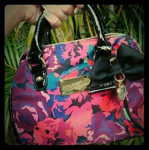 Betsey Johnson Floral Mini Hand Bag